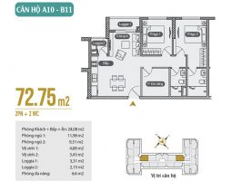 Mặt bằng thiết kế căn hộ A10 – B11