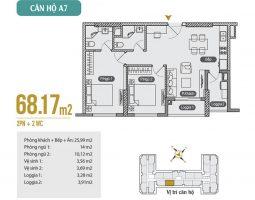 Mặt bằng thiết kế căn hộ A7