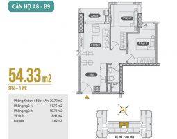 Mặt bằng thiết kế căn hộ A8 – B9