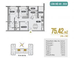 Mặt bằng thiết kế căn hộ A9 – B10