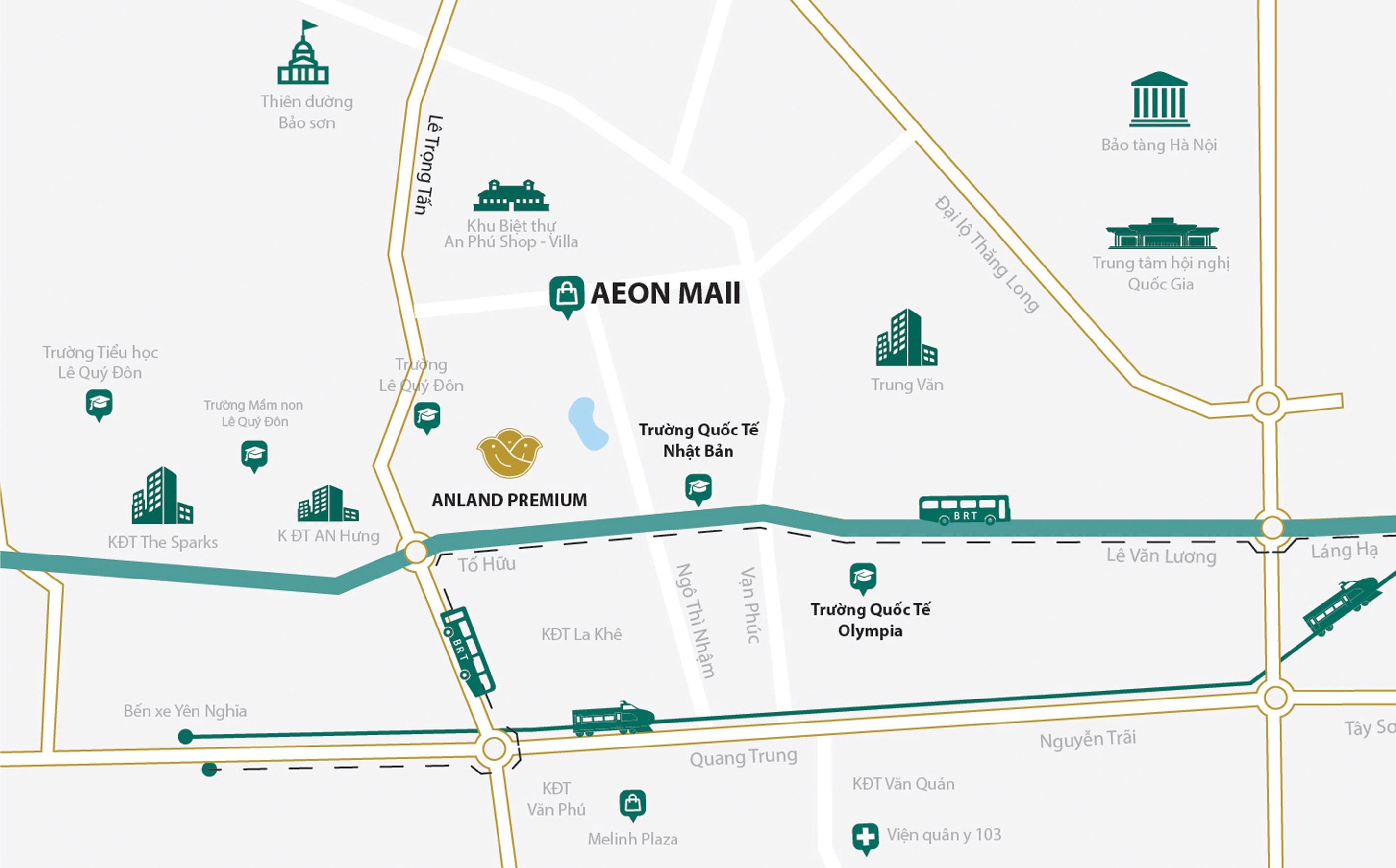 Bản đồ vị trí dự án chung cư Anland Premium (Maps)