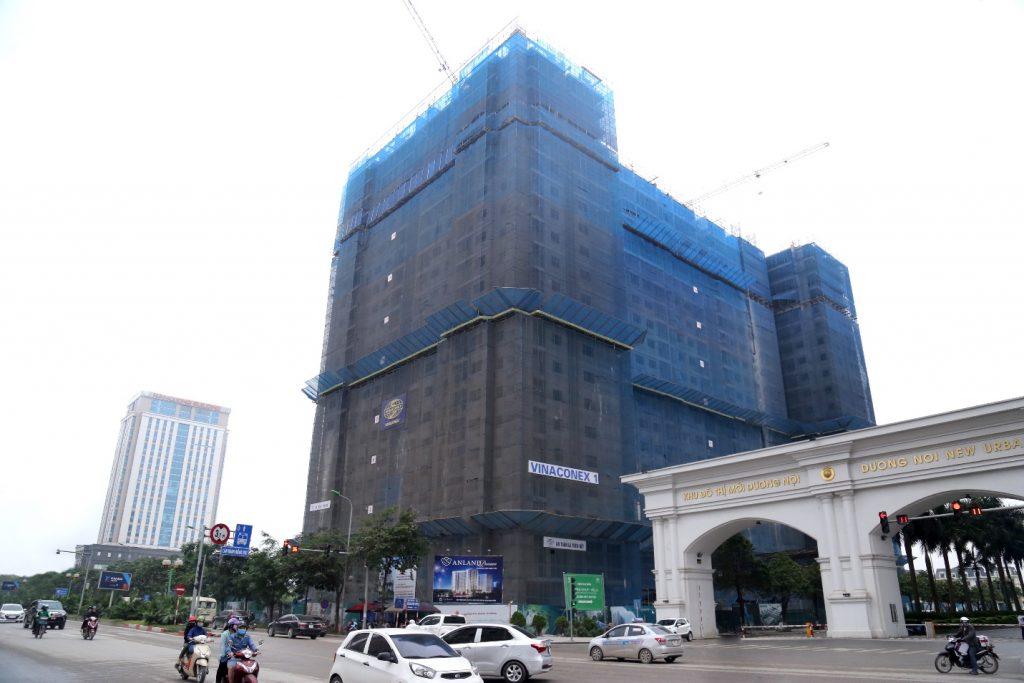 Dự án Anland Premium đang thi công đến tầng 22 trên tổng 25 tầng