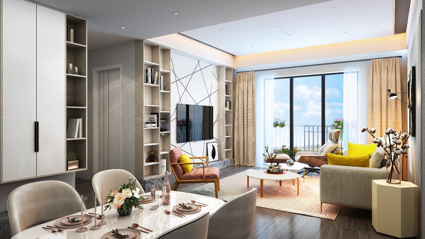 Phối cảnh căn hộ tại Anland Premium
